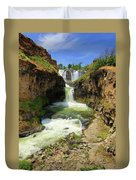 White River Falls D Duvet Cover