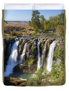 White River Falls In Tygh Valley Duvet Cover