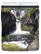 White River Falls Duvet Cover