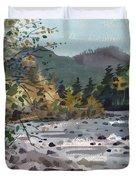 White River In Autumn Duvet Cover