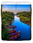 White River Jamaica Duvet Cover