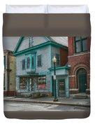 White River Junction Street Duvet Cover