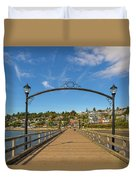 White Rock Pier In Bc Canada Duvet Cover