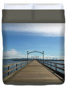 White Rock Pier Moorage In Bc Canada Duvet Cover