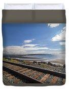White Rock Promenade In British Columbia Duvet Cover