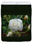 White Rose After Rain 2 Duvet Cover