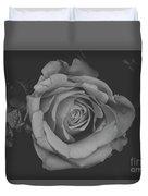 White Rose In Black And White Duvet Cover