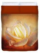 White Rose On Deep Texture Duvet Cover