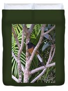 White Rumped Shama Duvet Cover