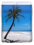 White Sand Beaches And Tropical Blue Skies Duvet Cover