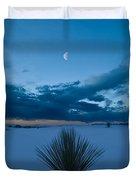 White Sands Moonrise Duvet Cover