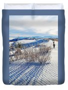 White Sands Shadows Duvet Cover
