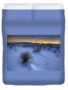 White Sands Sunset Duvet Cover