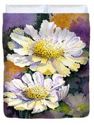 White Scabious Duvet Cover