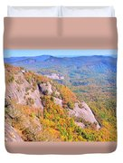 White Side Mountain Fool's Rock In Autumn Duvet Cover