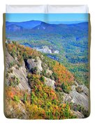 White Side Mountain Fool's Rock In Autumn Vertical Duvet Cover