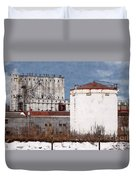 White Silo And Grain Elevator Duvet Cover