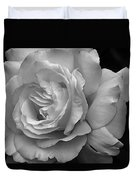 White Simplicity Rose Macro Duvet Cover