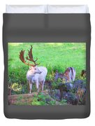 White Stag And Hind 2 Duvet Cover