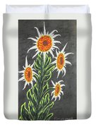 White Sunflowers Duvet Cover