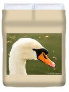 White Swan Profile Duvet Cover