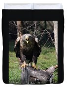 White Tailed Eagle Screaming Nature Wildlife Scene Duvet Cover