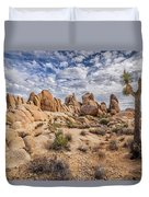 White Tank Rocks Duvet Cover
