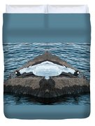 White-throated Dipper Mirrored Duvet Cover