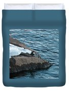 White-throated Dipper Nr 4 Duvet Cover