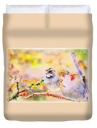White Throated Sparrow - Digital Paint 1                                             Duvet Cover