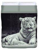 White Tiger 16 Duvet Cover