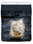 White Tiger 20 Duvet Cover
