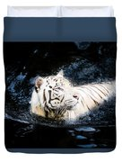 White Tiger 21 Duvet Cover