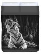 White Tiger. Growl. Duvet Cover