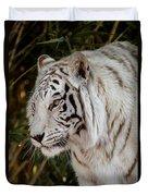 White Tiger Portrait 2 Duvet Cover