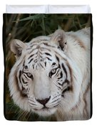 White Tiger Portrait Duvet Cover