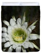 White Torch Cactus  Duvet Cover