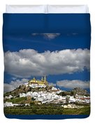 White Town Of Olvera, Andalusia, Spain Duvet Cover