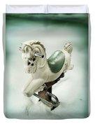 White Toy Horse Duvet Cover