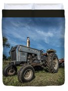 White Tractor Duvet Cover