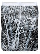 White Tree Black Night Duvet Cover