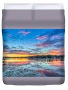 White Trout Lake Sunset - Tampa, Florida  Duvet Cover