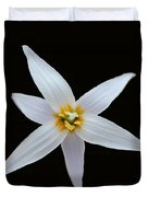White Trout Lily Duvet Cover