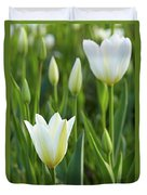 White Tulip Duvet Cover