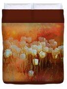 White Tulips Duvet Cover by Richard Ricci