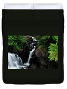 White Water Black Rocks Duvet Cover