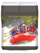 July In Oregon, White Water Rafting Duvet Cover