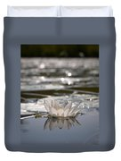 White Waterlily 3 Duvet Cover
