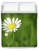 White Wild Flower Spring Scene Duvet Cover