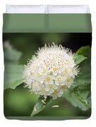 White Wild Flower Duvet Cover